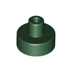 Dark Green Tile, Round 1 x 1 with Bar and Pin Holder - new