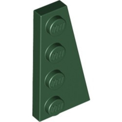 Dark Green Wedge, Plate 4 x 2 Right - new