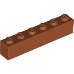 Dark Orange Brick 1 x 6 - used