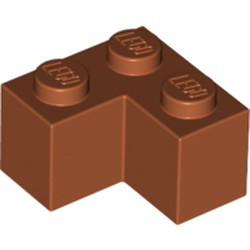 Dark Orange Brick 2 x 2 Corner - new