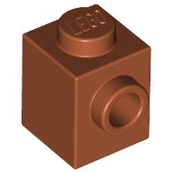 Dark Orange Brick, Modified 1 x 1 with Stud on 1 Side - used