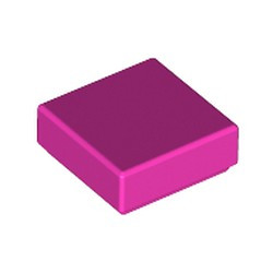 Dark Pink Tile 1 x 1 with Groove