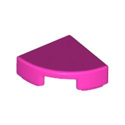 Dark Pink Tile, Round 1 x 1 Quarter - new