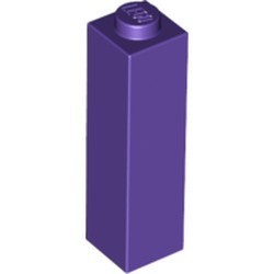 Dark Purple Brick 1 x 1 x 3 - new