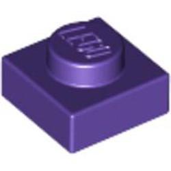 Dark Purple Plate 1 x 1 - new