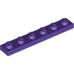 Dark Purple Plate 1 x 6 - new