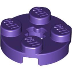 Dark Purple Plate, Round 2 x 2 with Axle Hole - new