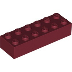 Dark Red Brick 2 x 6 - new