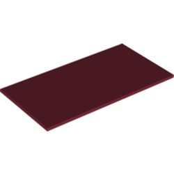 Dark Red Tile 8 x 16 with Bottom Tubes - used