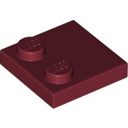 Dark Red Tile, Modified 2 x 2 with Studs on Edge - new