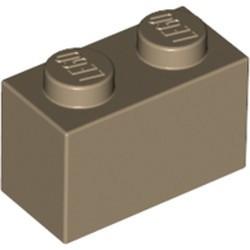 Dark Tan Brick 1 x 2 - used