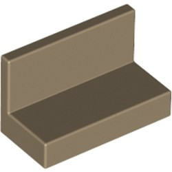 Dark Tan Panel 1 x 2 x 1 with Rounded Corners