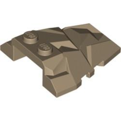 Dark Tan Wedge 4 x 4 Fractured Polygon Top - used