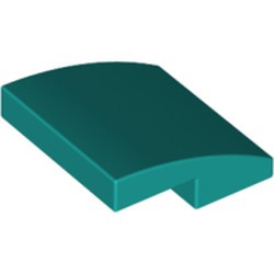 Dark Turquoise Slope, Curved 2 x 2 - new