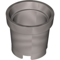 Flat Silver Container, Bucket 2 x 2 x 2 without Handle Holes - used