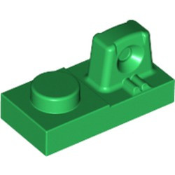 Green Hinge Plate 1 x 2 Locking with 1 Finger On Top