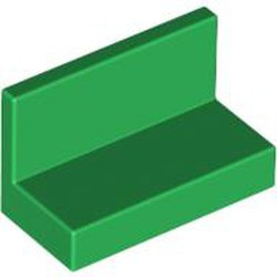 Green Panel 1 x 2 x 1 with Rounded Corners - used