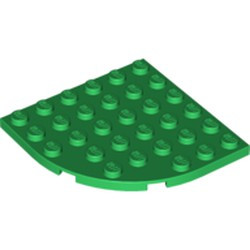 Green Plate, Round Corner 6 x 6 - new