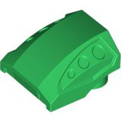 Green Slope, Curved 2 x 2 with 3 Side Ports Recessed