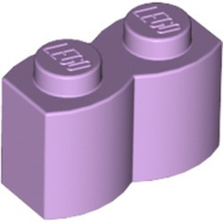 Lavender Brick, Modified 1 x 2 with Log Profile