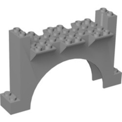 Light Bluish Gray Arch 4 x 12 x 6 Wall with Grooves