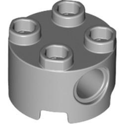 Light Bluish Gray Brick, Round 2 x 2 with Pin Holes
