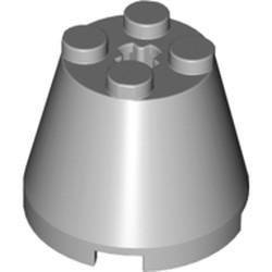 Light Bluish Gray Cone 3 x 3 x 2 - used