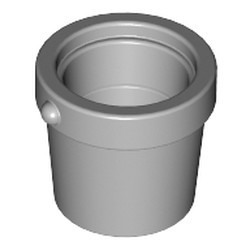 Light Bluish Gray Container, Bucket 1 x 1 x 1 Tapered - used