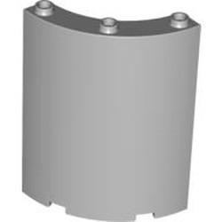 Light Bluish Gray Cylinder Quarter 4 x 4 x 6