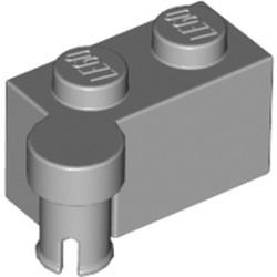Light Bluish Gray Hinge Brick 1 x 4 Swivel Top - used