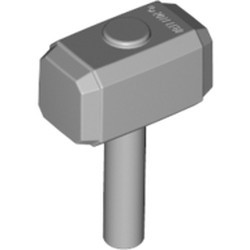 Light Bluish Gray Minifigure, Utensil Tool Sledgehammer (Mjolnir, Hammer) - new