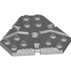 Light Bluish Gray Plate, Modified 6 x 6 Hexagonal with Pin Hole