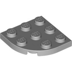 Light Bluish Gray Plate, Round Corner 3 x 3 - new