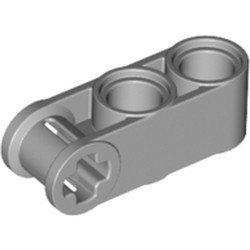 Light Bluish Gray Technic, Axle and Pin Connector Perpendicular 3L with 2 Pin Holes