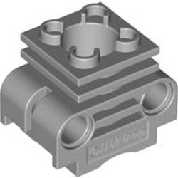 Light Bluish Gray Technic Engine Cylinder without Side Slots