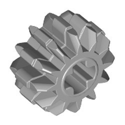 Light Bluish Gray Technic, Gear 12 Tooth Double Bevel - used