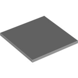 Light Bluish Gray Tile 6 x 6 with Bottom Tubes - new