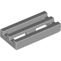 Light Bluish Gray Tile, Modified 1 x 2 Grille with Bottom Groove / Lip