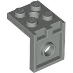 Light Gray Bracket 2 x 2 - 2 x 2 with 2 Holes - used