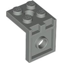 Light Gray Bracket 2 x 2 - 2 x 2 with 2 Holes
