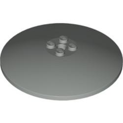 Light Gray Dish 8 x 8 Inverted (Radar) - used - Solid Studs