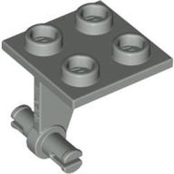 Light Gray Plate, Modified 2 x 2 Thin with Dual Wheels Holder - Split Pins