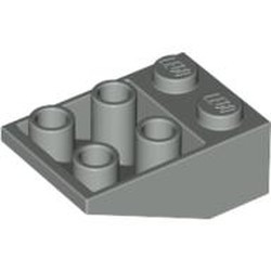 Light Gray Slope, Inverted 33 3 x 2 without Connections between Studs - used