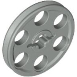 Light Gray Technic Wedge Belt Wheel (Pulley) - used