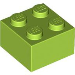 Lime Brick 2 x 2 - new