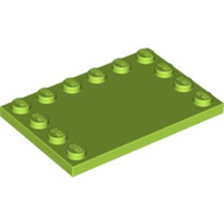 Lime Tile, Modified 4 x 6 with Studs on Edges