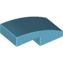 Medium Azure Slope, Curved 2 x 1