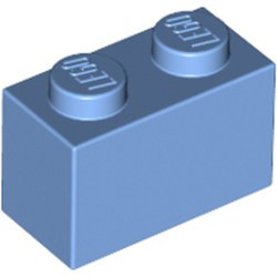 Medium Blue Brick 1 x 2 - new