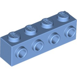 Medium Blue Brick, Modified 1 x 4 with 4 Studs on 1 Side BULK STOCK. NEED MORE? PLEASE CONTACT US! BULK STOCK. NEED MORE? PLEASE CONTACT US!