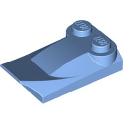 Medium Blue Slope, Curved 3 x 2 x 2/3 with Two Studs, Wing End
